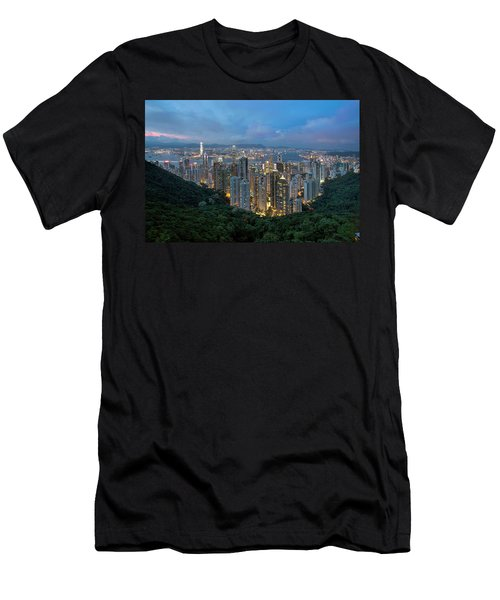 Hong Kong From Sky Terrace 428 At Victoria Peak Men's T-Shirt (Athletic Fit)