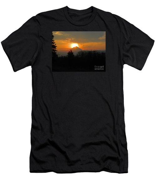 Hood On Fire Men's T-Shirt (Athletic Fit)