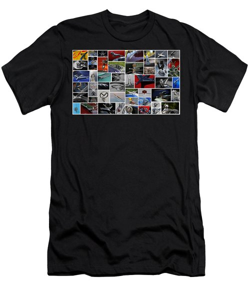Men's T-Shirt (Slim Fit) featuring the photograph Hood Ornament Collage by Mike Martin