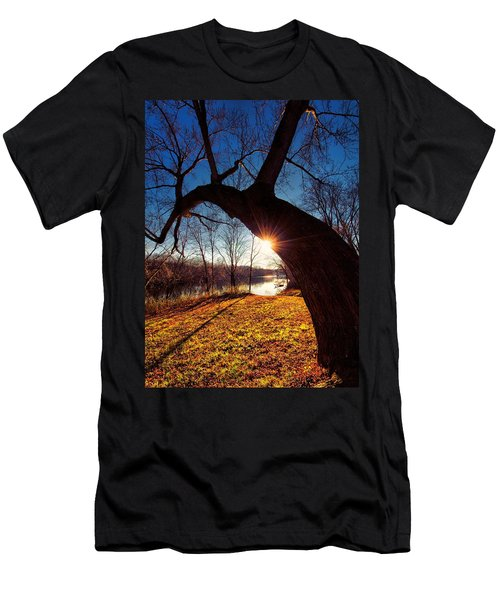 Men's T-Shirt (Slim Fit) featuring the photograph Hook Or Crook by Robert McCubbin