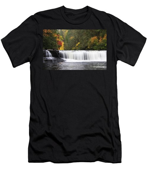 Hooker Falls In North Carolina Men's T-Shirt (Athletic Fit)