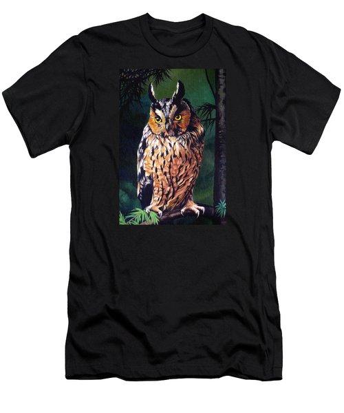 Hoot Owl Men's T-Shirt (Slim Fit) by Vivien Rhyan