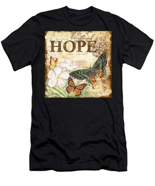 Hope And Butterflies Men's T-Shirt (Athletic Fit)