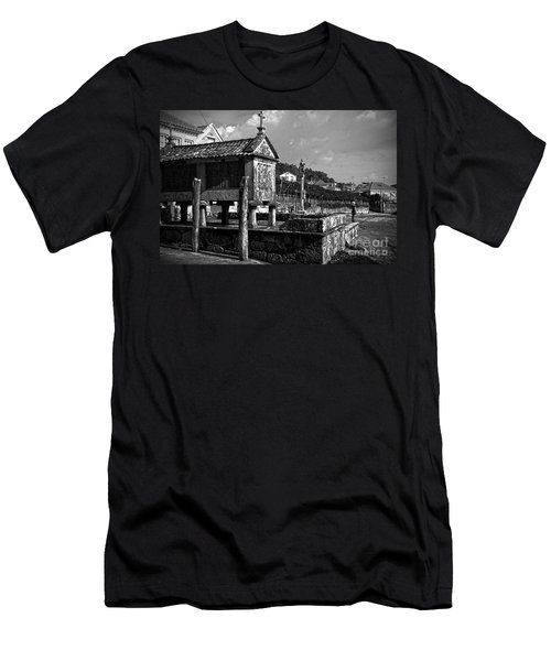 Horreo And Cruceiro In Galicia Bw Men's T-Shirt (Athletic Fit)