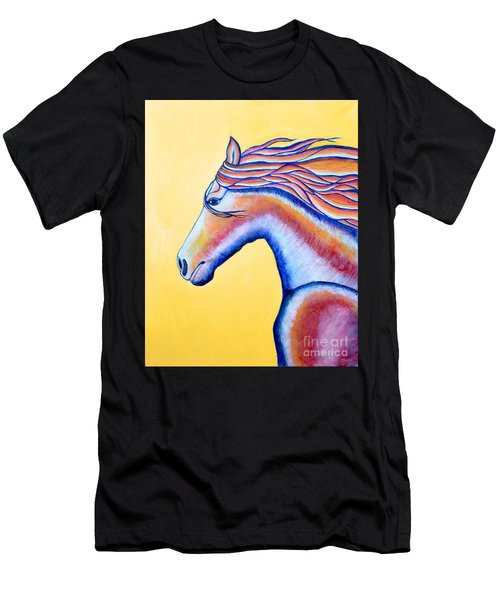 Men's T-Shirt (Slim Fit) featuring the painting Horse 1 by Joseph J Stevens