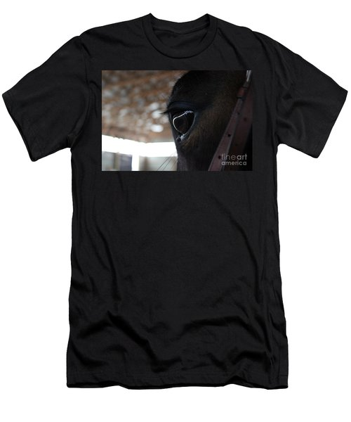 Horse Eye From Behind Men's T-Shirt (Athletic Fit)