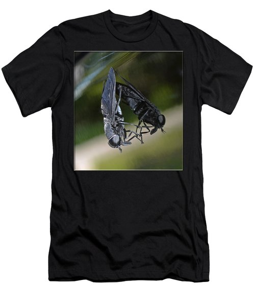 Men's T-Shirt (Slim Fit) featuring the photograph Horse Fly by DigiArt Diaries by Vicky B Fuller