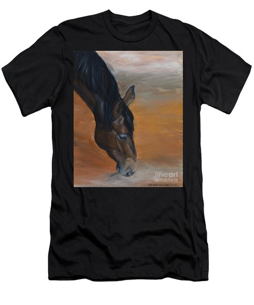 horse - Lily Men's T-Shirt (Athletic Fit)
