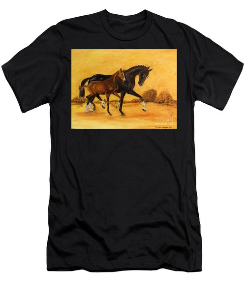Horse - Together 2 Men's T-Shirt (Athletic Fit)