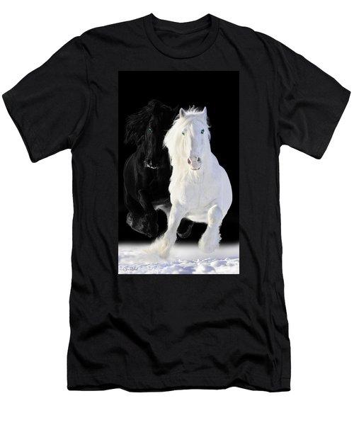 Horses Men's T-Shirt (Athletic Fit)