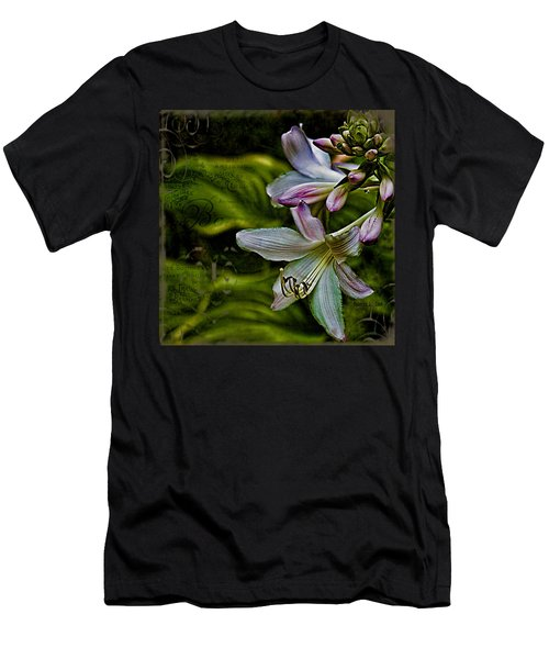 Hosta Lilies With Texture Men's T-Shirt (Athletic Fit)