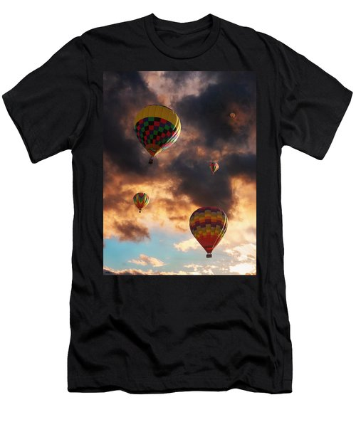 Hot Air Balloons - Chasing The Horizon Men's T-Shirt (Athletic Fit)