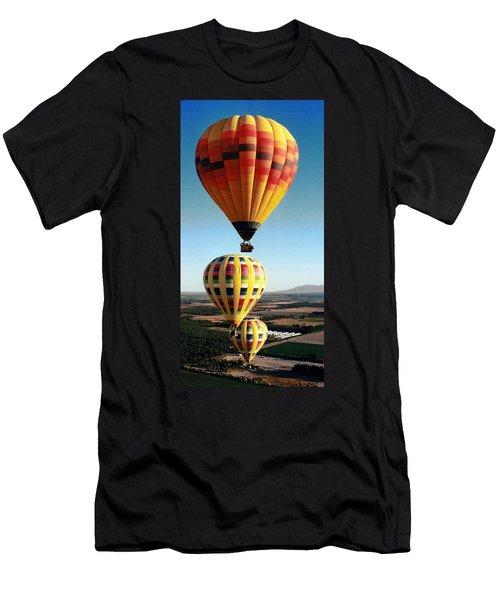 Balloon Stacking Men's T-Shirt (Slim Fit) by Richard Engelbrecht