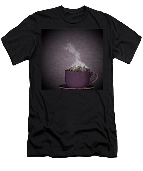 Men's T-Shirt (Slim Fit) featuring the photograph Hot Coffee by Gert Lavsen