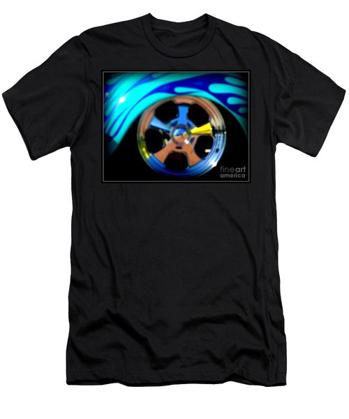 Men's T-Shirt (Slim Fit) featuring the photograph Hot Hot Wheels  by Bobbee Rickard