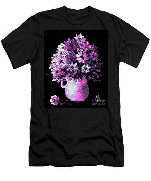 Hot Pink Flowers Men's T-Shirt (Athletic Fit)