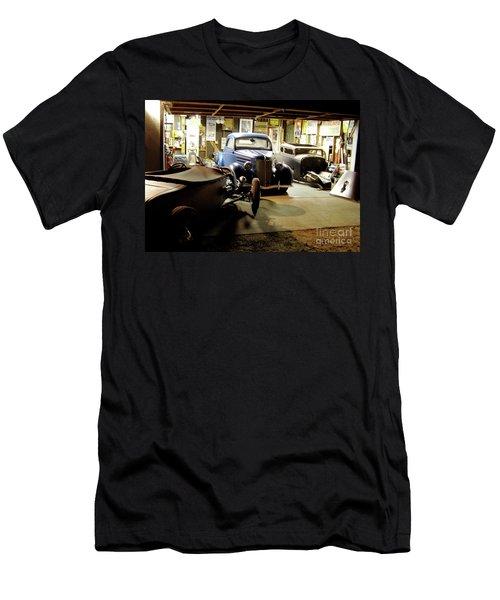 Hot Rod Garage Men's T-Shirt (Slim Fit) by Alan Johnson