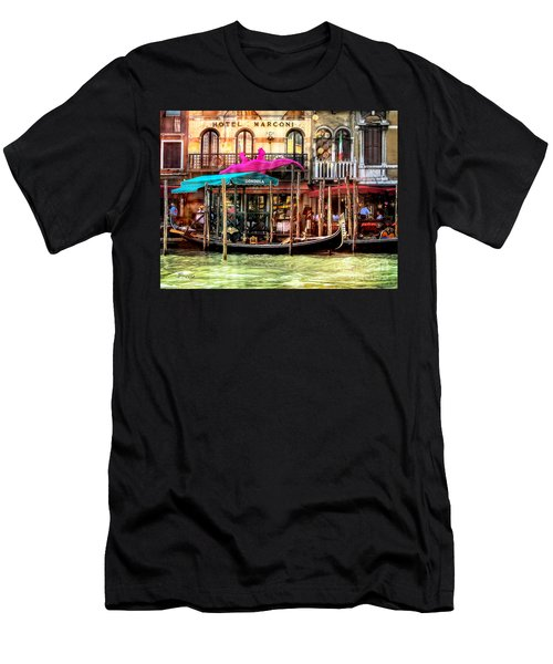 Hotel Marconi.venice. Men's T-Shirt (Slim Fit) by Jennie Breeze