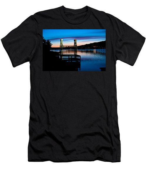 Houghton Bridge Sunset Men's T-Shirt (Athletic Fit)