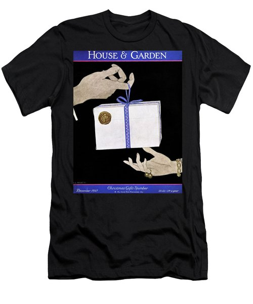 House And Garden Cover Illustration Of A Christmas Men's T-Shirt (Athletic Fit)