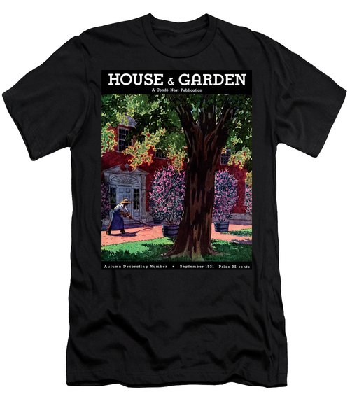 House & Garden Cover Illustration Of A Gardener Men's T-Shirt (Athletic Fit)