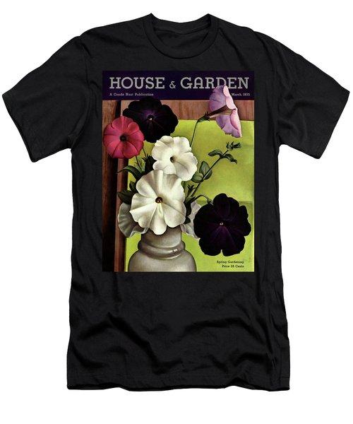 House & Garden Cover Illustration Of Petunias Men's T-Shirt (Athletic Fit)