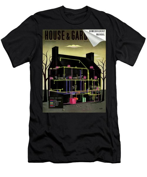 House And Garden Cover Illustration Of The Internal Men's T-Shirt (Athletic Fit)