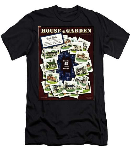 House And Garden Cover Featuring A Collage Men's T-Shirt (Athletic Fit)