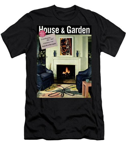 House And Garden Cover Featuring A Living Room Men's T-Shirt (Athletic Fit)