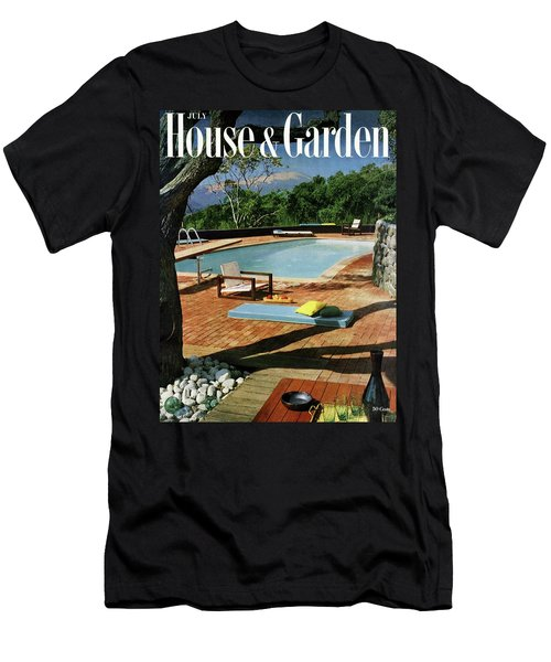 House And Garden Cover Featuring A Terrace Men's T-Shirt (Athletic Fit)