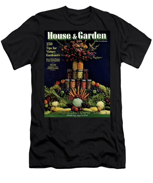 House And Garden Cover Featuring Fruit Men's T-Shirt (Athletic Fit)