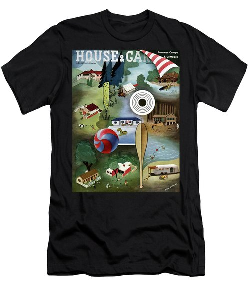House And Garden Summer Camps And Cottages Cover Men's T-Shirt (Athletic Fit)