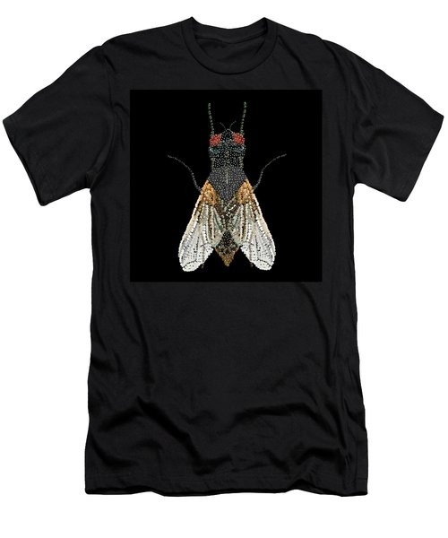 House Fly Bedazzled Men's T-Shirt (Athletic Fit)