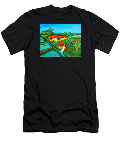 House With A Water Pump Men's T-Shirt (Athletic Fit)