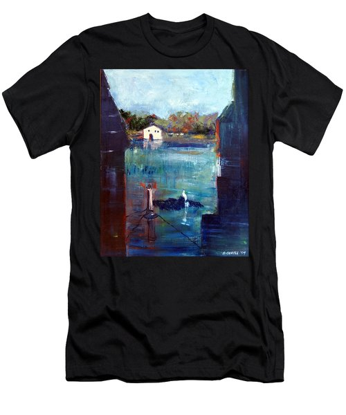 Houseboat Shadows Men's T-Shirt (Athletic Fit)