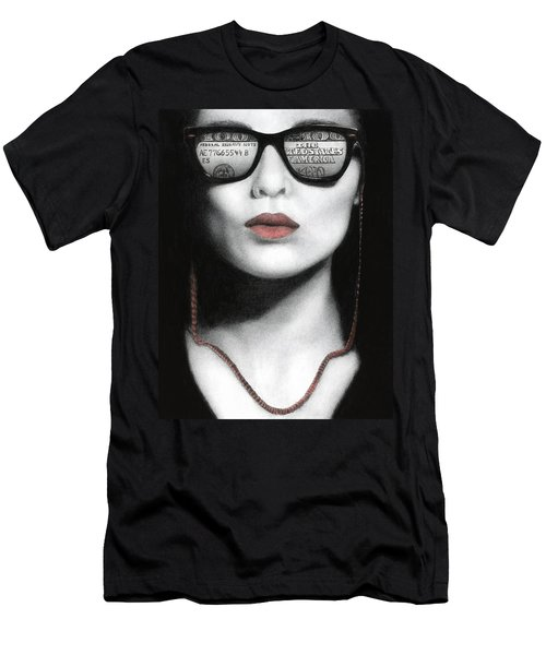 Men's T-Shirt (Slim Fit) featuring the painting How Do I Love Thee...let Me Count Your Money by Pat Erickson