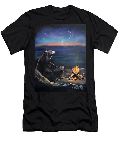 How Grandfather Bear Created The Stars Men's T-Shirt (Slim Fit) by J W Baker