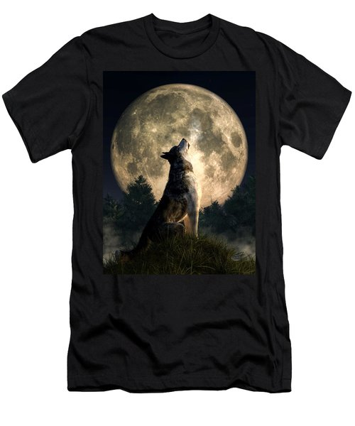 Howling Wolf Men's T-Shirt (Athletic Fit)