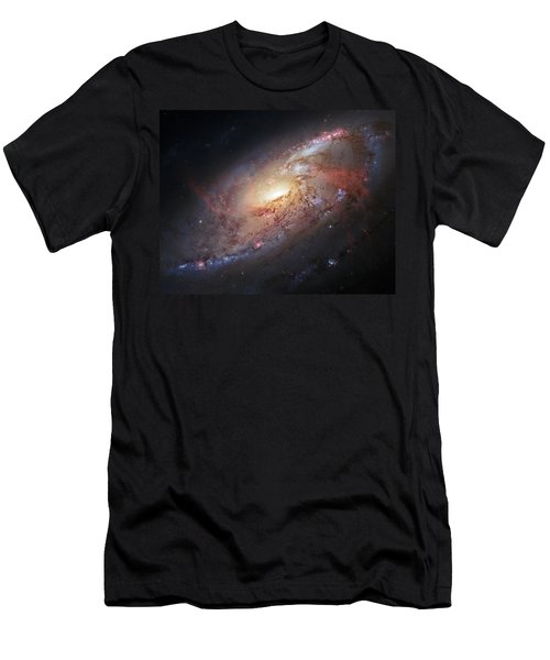 Hubble View Of M 106 Men's T-Shirt (Athletic Fit)