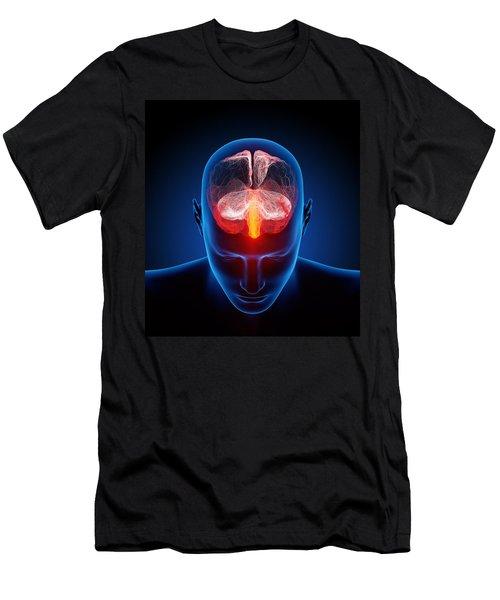 Human Brain Men's T-Shirt (Athletic Fit)