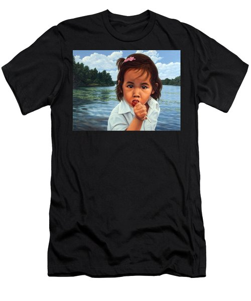 Men's T-Shirt (Slim Fit) featuring the painting Human-nature 48 by James W Johnson
