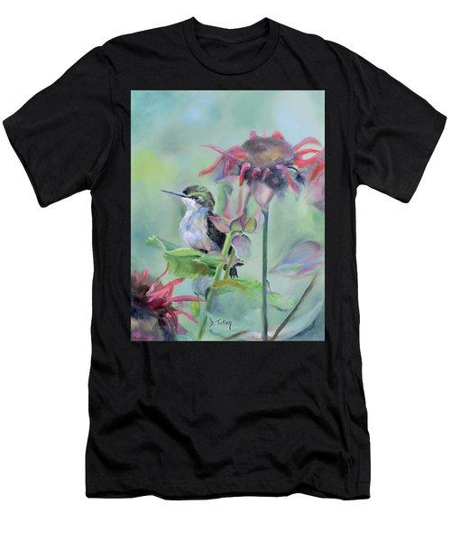 Hummingbird And Coneflowers Men's T-Shirt (Athletic Fit)