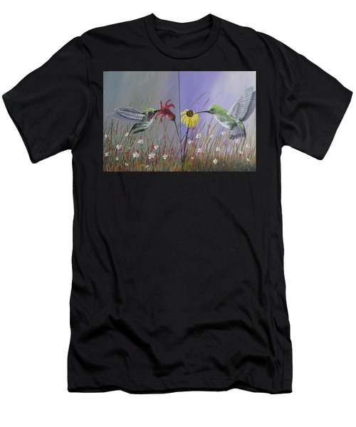 Hummingbird Pair Men's T-Shirt (Athletic Fit)