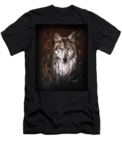 Hunter In The Night Men's T-Shirt (Athletic Fit)