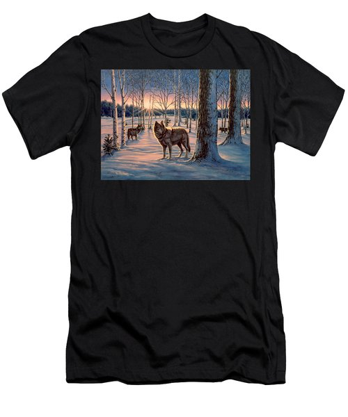Hunters At Twilight Men's T-Shirt (Athletic Fit)