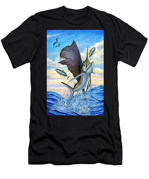 Hunting Of Small Tunas Men's T-Shirt (Athletic Fit)