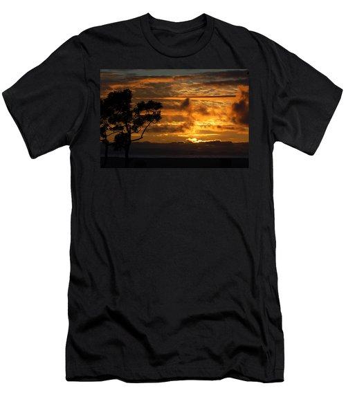 Huntington Beach Sunset Men's T-Shirt (Slim Fit) by Matt Harang