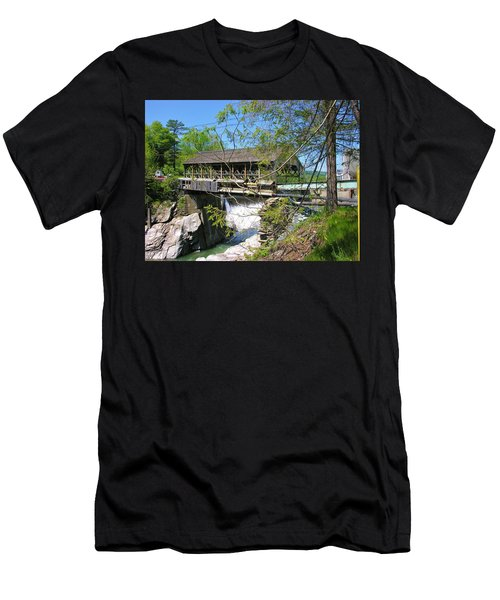 Men's T-Shirt (Slim Fit) featuring the photograph Hurricane Irenes Destruction by Sherman Perry