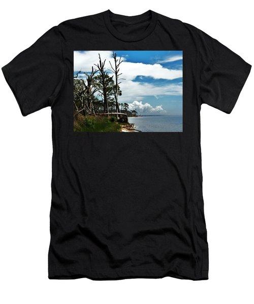 Men's T-Shirt (Slim Fit) featuring the photograph Hurricane Trail by Faith Williams