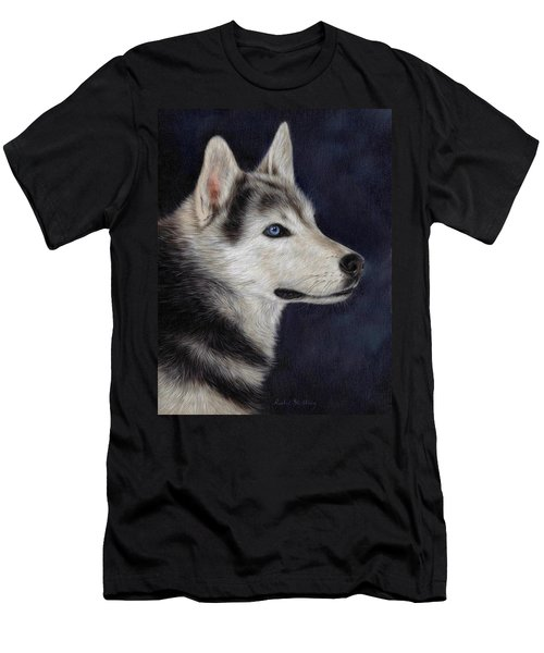 Husky Portrait Painting Men's T-Shirt (Athletic Fit)